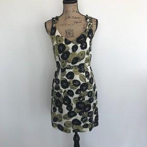 Anthropologie Leifsdottir Dot Ruffle Dress Size 4